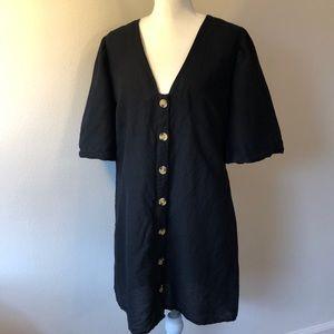 TopShop Linen Button Zip Dress - 10